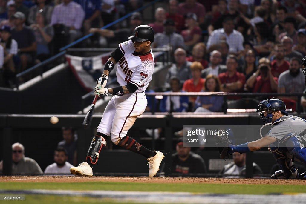 Divisional Series - Los Angeles Dodgers v Arizona Diamondbacks - Game Three : News Photo