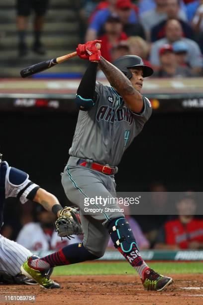 Ketel Marte of the Arizona Diamondbacks participates in the 2019 MLB AllStar Game at Progressive Field on July 09 2019 in Cleveland Ohio