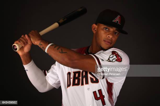 Ketel Marte of the Arizona Diamondbacks poses for a portrait during photo day at Salt River Fields at Talking Stick on February 21 2017 in Scottsdale...