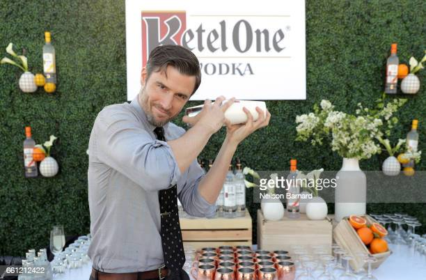 Ketel One Vodka Perfect Pour bartender Garrett McKechnie attends a celebration for the Alexis Arquette Family Foundation during an intimate dinner...