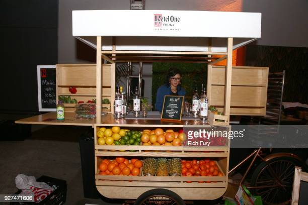 Ketel One Vodka's ÒKetel Your SodaÓ bar cart at Jimmy KimmelÕs postshow afterparty for HollywoodÕs biggest night at The Lot on March 4 2018 in West...