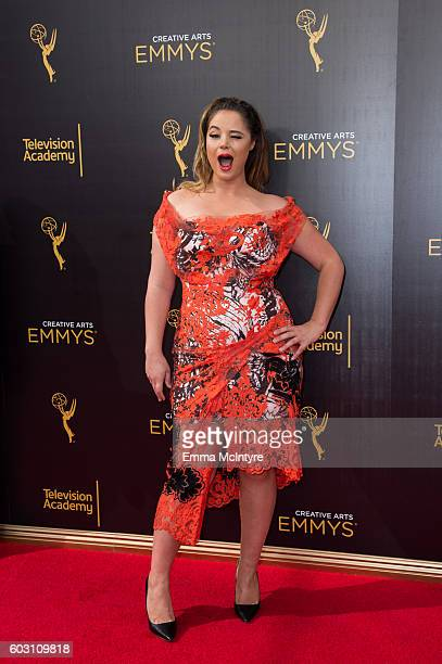 Kether Donohue arrives at the Creative Arts Emmy Awards at Microsoft Theater on September 10 2016 in Los Angeles California