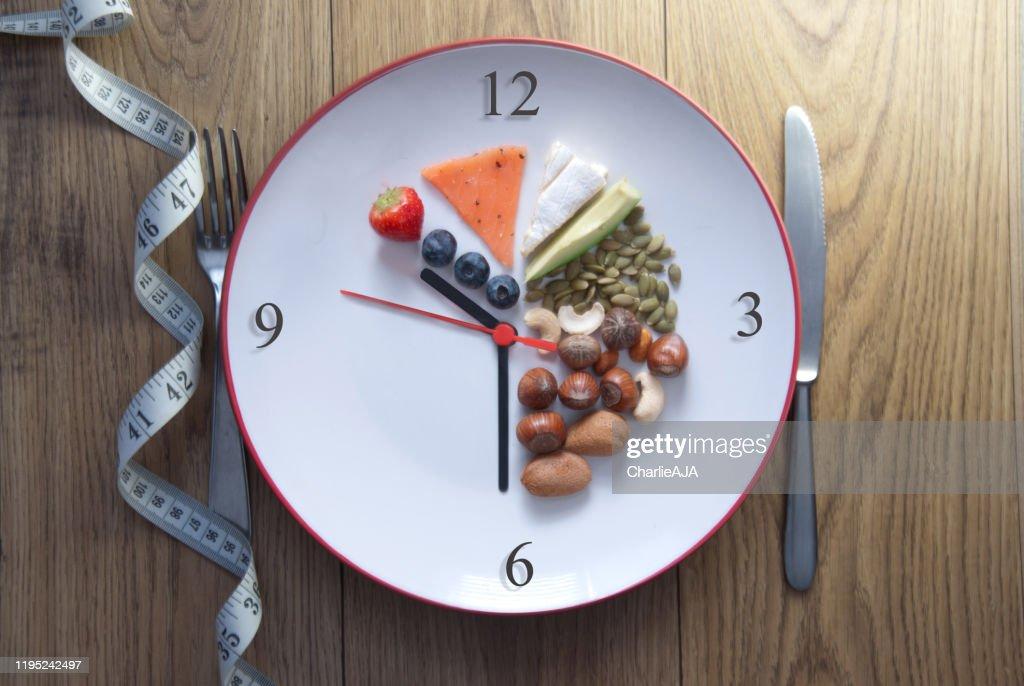 Keto fasting concept : Stock Photo