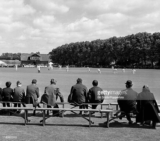 Kettering cricket ground in Northamptonshire circa 1970