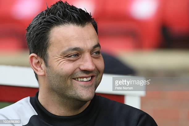 Kettering Town manager Lee Harper during the PreSeason Friendly match between Kettering Town and Northampton Town held on July 13 2010 at the Elgoods...