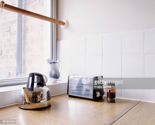 A kettle and a toaster