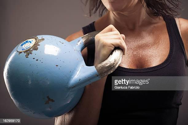 Kettle Bell Held by Woman