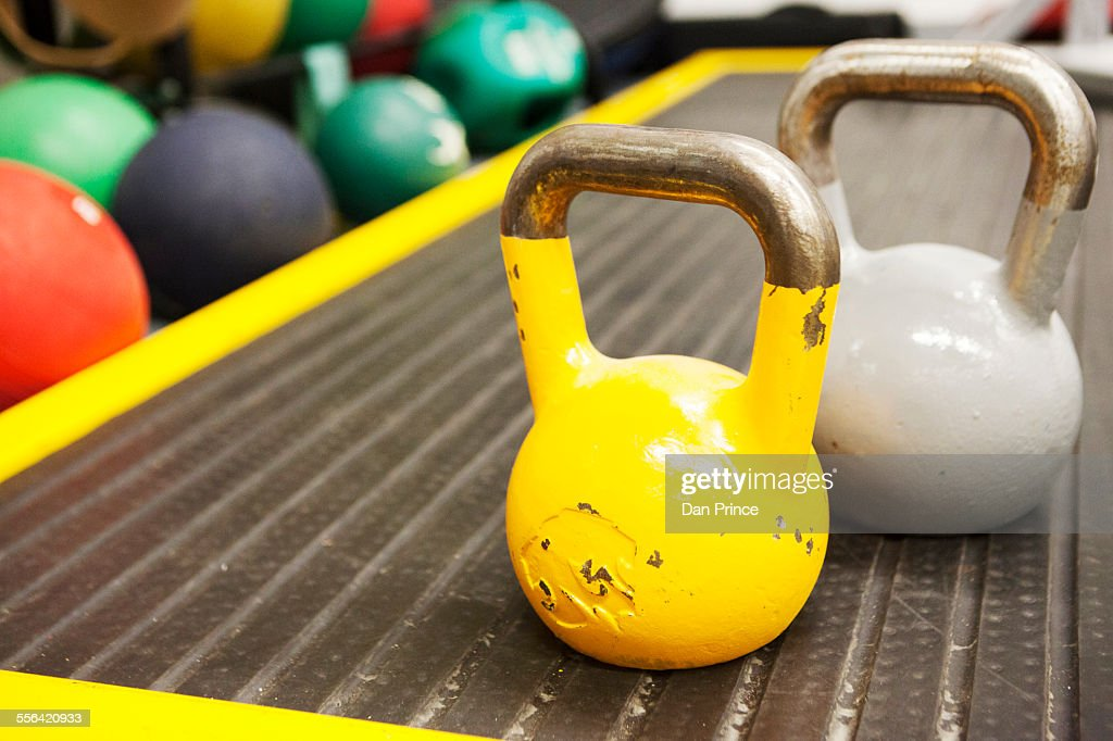 Kettle bell weights, close-up : Stock Photo