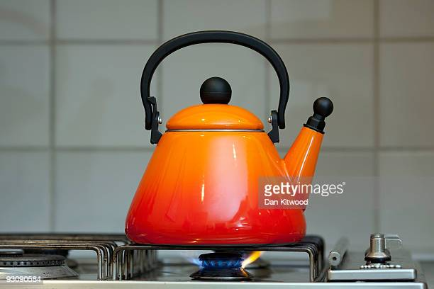 A kettle boils on a gas ring on November 16 2009 in London England As world leaders prepare to gather for the Copenhagen Climate Summit in December...