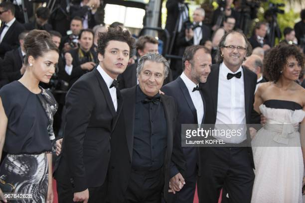 Kev Adams Christian Clavier Pierre Francois MartinLaval and guests attend the 'Nebraska' premiere during The 66th Annual Cannes Film Festival at the...