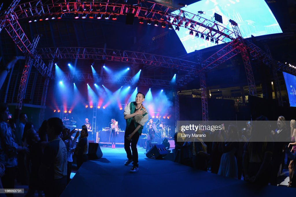 Kev Nish of the Far East Movement performs onstage at the Best Buddies Bash Featuring Far East Movement and SkyBlu of LMFAO at Marlins Park on November 16, 2012 in Miami, Florida.