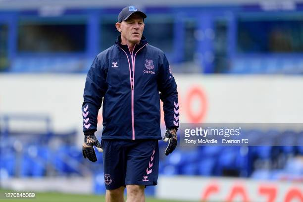 Kev O'Brien Everton Goalkeeper Coach before the PreSeason Friendly match between Everton and Preston North End at Goodison Park on September 5 2020...