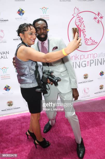 Kevan Hall poses with fan at the 10th Annual Pink Pump Affair Charity Gala Fundraiser at The Beverly Hills Hotel on May 20 2018 in Beverly Hills...
