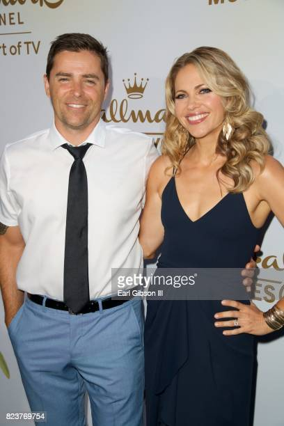 Kevan Smith and Pascale Hutton attend the 2017 Summer TCA TourHallmark Channel And Hallmark Movies And Mysteries at a private residence on July 27...