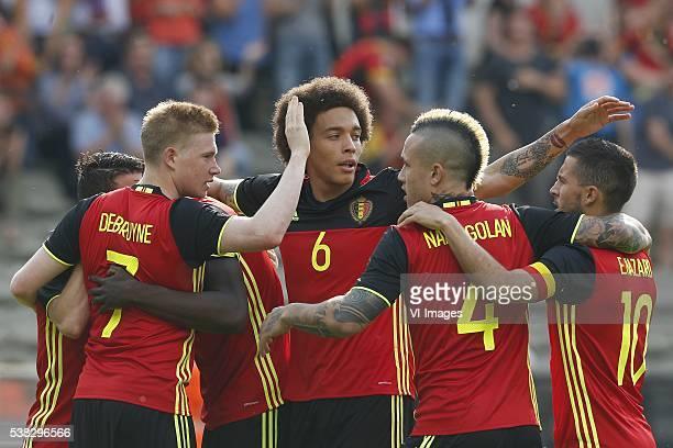 Keven de Bruyne of Belgium Axel Witsel of Belgium Radja Nainggolan of Belgium Eden Hazard of Belgium during the International friendly match between...