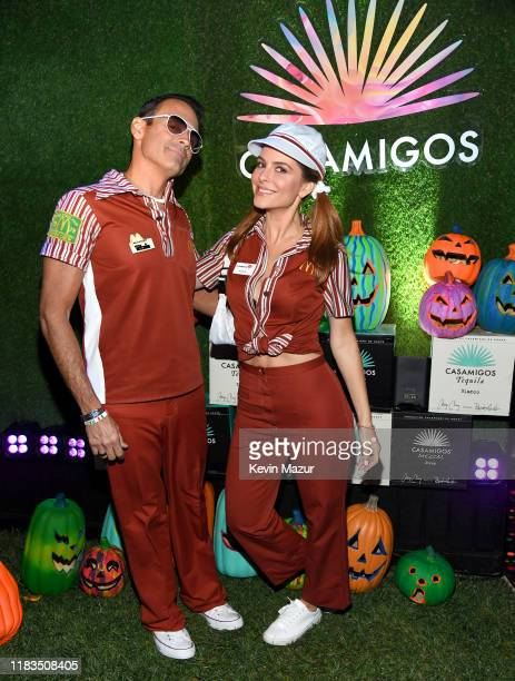 Keven Undergaro and Maria Menounos attend the 2019 Casamigos Halloween Party on October 25 2019 at a private residence in Beverly Hills California