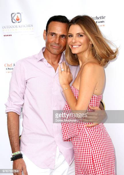 Keven Undergaro and Maria Menounos attend the Social Life Magazine June Cover event celebrating Maria Menounos on June 16 2018 in Southampton New York