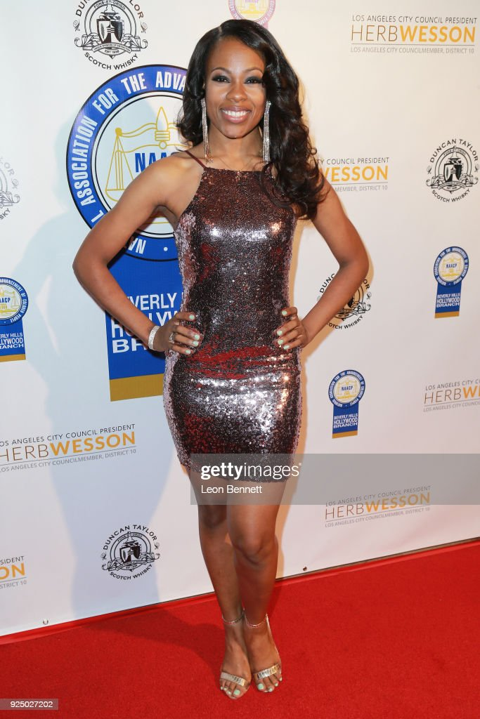 Keverlie Herron attends the 27th Annual NAACP Theatre Awards at Millennium Biltmore Hotel on February 26, 2018 in Los Angeles, California.