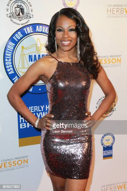 Keverlie Herron attends the 27th Annual NAACP Theatre Awards at Millennium Biltmore Hotel on February 26 2018 in Los Angeles California