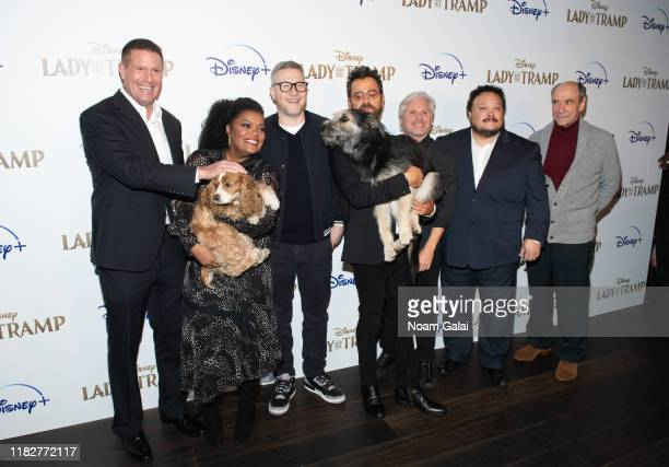 Kevin A Mayer Rose Yvette Nicole Brown Charlie Bean Monte Justin Theroux Brigham Taylor Adrian Martinez and F Murray Abraham attend Disney's Lady and...