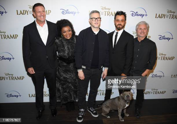 Kevin A Mayer Yvette Nicole Brown Charlie Bean Justin Theroux and Brigham Taylor attend as Cinema Society hosts a special screening of Disney's Lady...