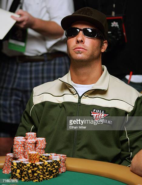Kevin Aaronson of California contemplates a move during the World Series of Poker nolimit Texas Hold 'em main event at the Rio Hotel Casino August 8...
