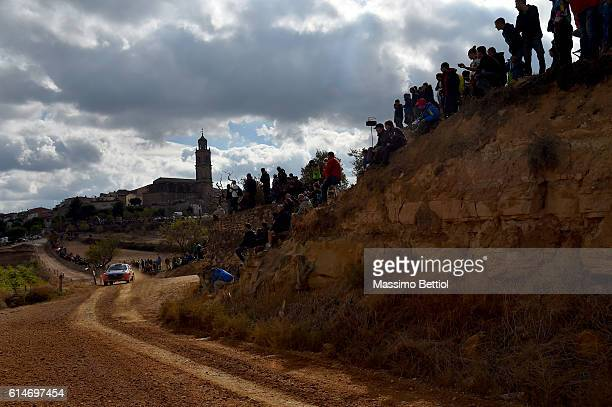 Kevin Abbring of Nederland and Sebastian Marshall of Great Britain compete in their Hyundai Motorsport N Hyundai i20 WRC during Day One of the WRC...