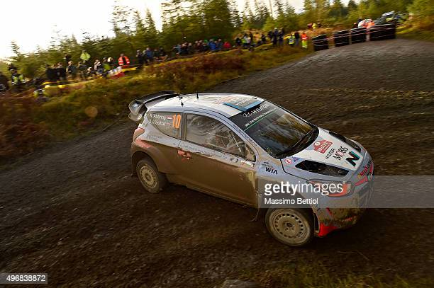Kevin Abbring of Nederland and Sebastien Marshall of Great Britain compete in their Hyundi Motorsport N Hyundai i20 WRC during the Shakedown of the...