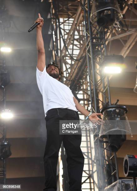 Kevin Abstract of Brockhampton performs during the 51st Festival d'ete de Quebec on July 5 2018 in Quebec City Canada
