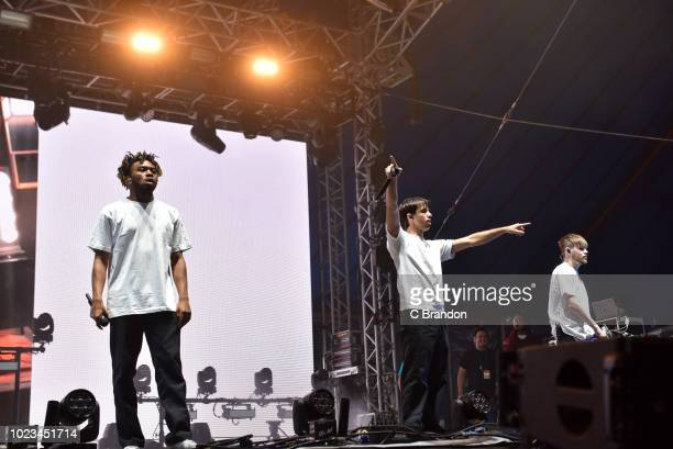 Kevin Abstract of Brockhampton performs on stage during day two of the Reading Festival at Richfield Avenue on August 25 2018 in Reading England