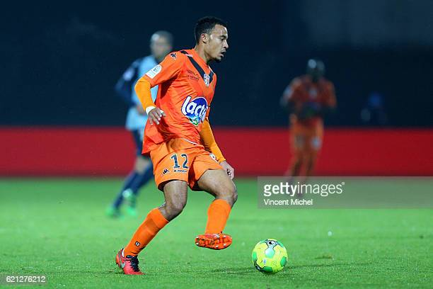 Kevin Afougou of Laval during the Ligue 2 match between Stade Lavallois and Le Havre AC on November 4 2016 in Laval France