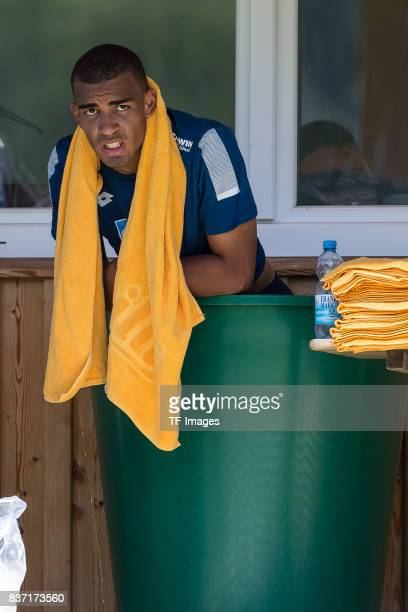 Kevin Akpoguma of Hoffenheim in der Eistonne during the Training Camp of TSG 1899 Hoffenheim on July 16 2017 in Windischgarsten Austria
