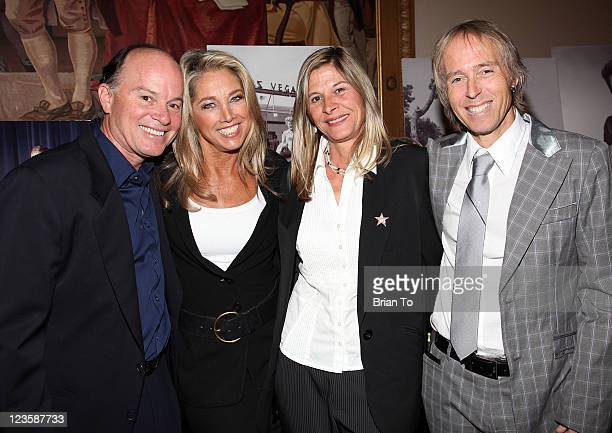 Kevin Allyn Denise Austin Lora LaLanne and Jon LaLanne attend the godfather of fitness Jack LaLanne's 'Celebration of Life' memorial service at...