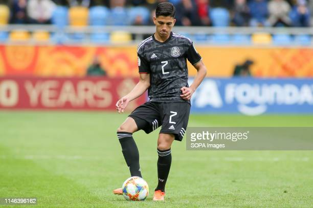 Kevin Alvarez from Mexico seen in action during the FIFA U-20 World Cup match between Mexico and Japan in Gdynia. .