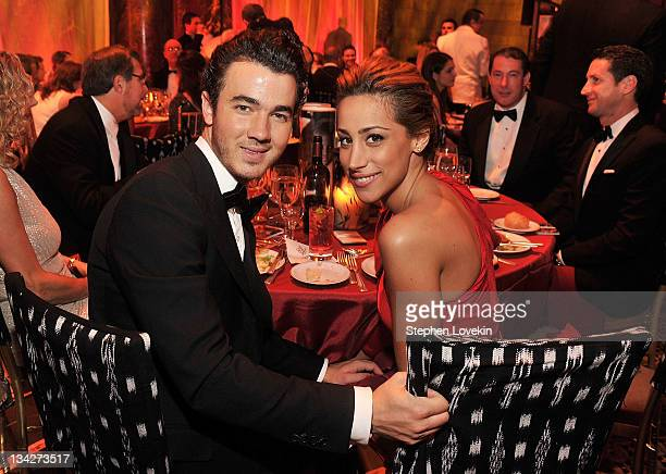 Kevin and Danielle Jonas attend 2011 UNICEF Snowflake Ball at Cipriani 42nd Street on November 29 2011 in New York City