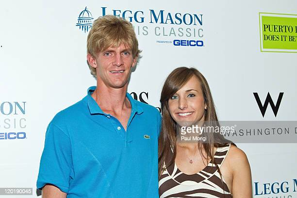 Kevin Anderson and Kelsey O'Neal attend the Legg Mason Tennis Classic player's party at the W Washington DC on July 31 2011 in Washington DC