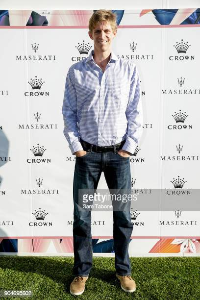 Kevin Anderson arrives ahead of the 2018 Crown IMG Tennis Player at Crown Palladium on January 14 2018 in Melbourne Australia