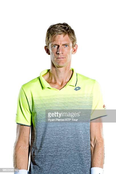 Kevin Anderson of South Africa poses for portraits during the Australian Open on January 13 2018 in Melbourne Australia
