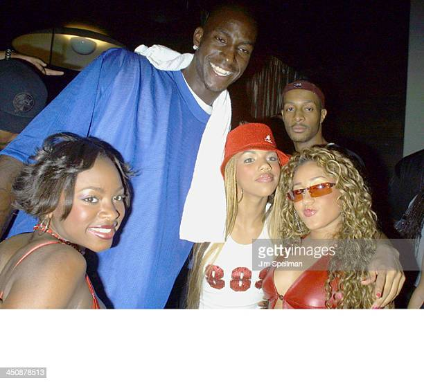 Kevin Arnett and 3LW during Usher Party at Tuscan Steak at Tuscan Steak in New York City New York United States