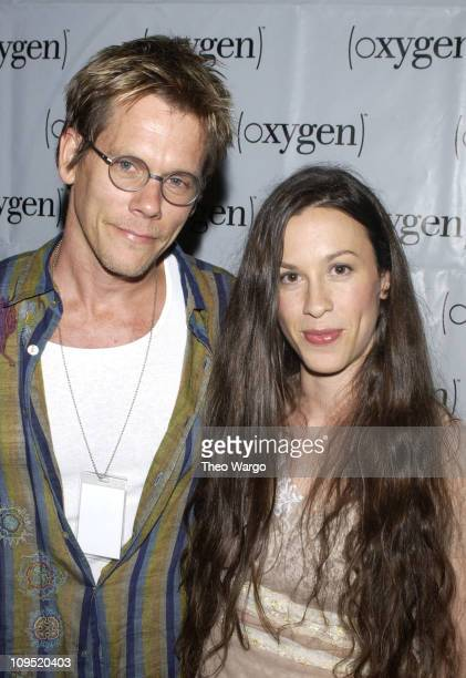 Kevin Bacon and Alanis Morissette during Oxygen Presents 'Alanis Morissette Custom Concert' at Sony Studios at Sony Studios in New York City New York...