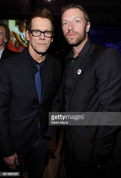 Kevin Bacon and Chris Martin attend the 3rd annual Sean Penn Friends HELP HAITI HOME Gala benefiting J/P HRO presented by Giorgio Armani at Montage...
