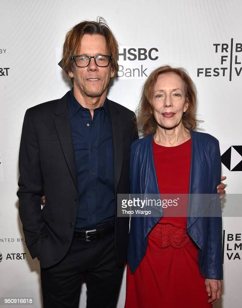 Kevin Bacon and Karin Bacon attend Studio 54 2018 Tribeca Film Festival at Spring Studios on April 24 2018 in New York City