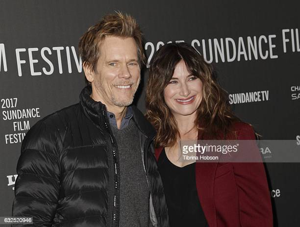Kevin Bacon and Kathryn Hahn attend the 'I Love Dick' premiere at the 2017 Sundance Film Festival at The Marc Theatre on January 23 2017 in Park City...