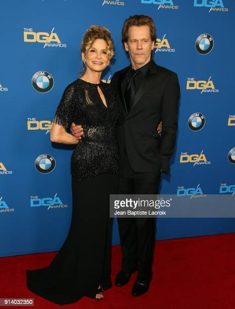 Kevin Bacon and Kyra Sedgwick attend the 70th Annual Directors Guild Of America Awards at The Beverly Hilton Hotel on February 3 2018 in Beverly...
