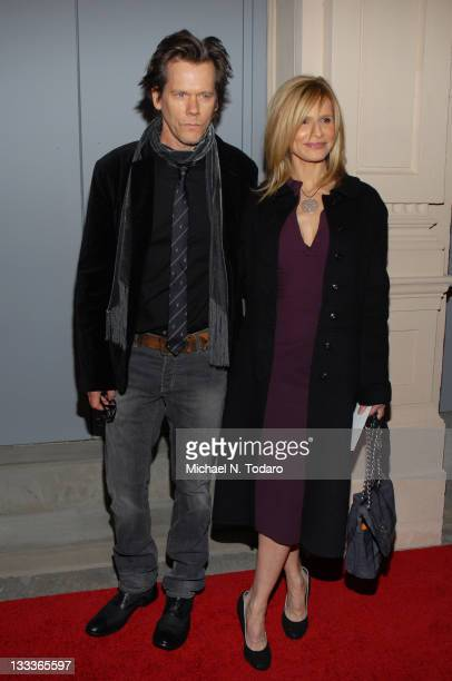 Kevin Bacon and Kyra Sedgwick attend the opening night of 'Guys Dolls' on Broadway at the Nederlander Theatre on March 1 2009 in New York City