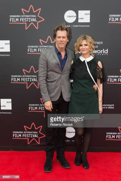 Kevin Bacon and Kyra Sedgwick attend the world premiere of Story of a Girl during the 71th Edinburgh International Film Festival at Cineworld on June...
