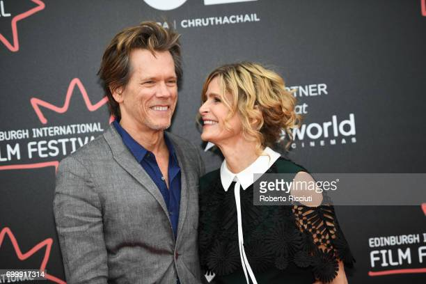 Kevin Bacon and Kyra Sedgwick attend the world premiere of 'Story of a Girl' during the 71th Edinburgh International Film Festival at Cineworld on...
