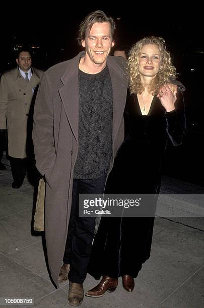 Kevin Bacon and Kyra Sedgwick during 'Balto' New York City Screening December 17 1995 at Gotham Theater in New York City New York United States