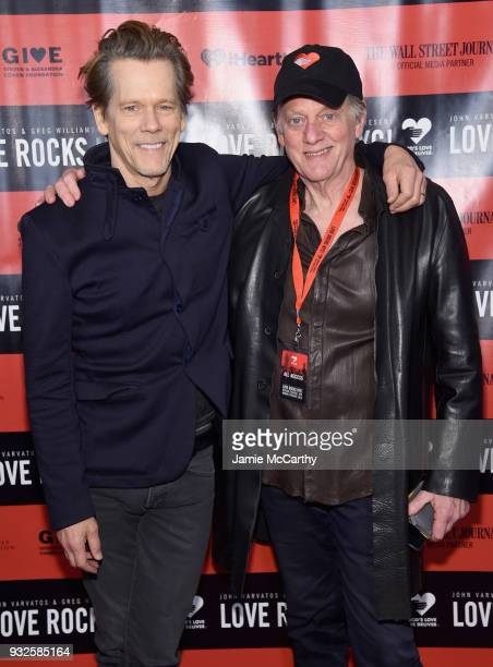 Kevin Bacon and Michael Bacon of the Bacon Brothers attend the Second Annual LOVE ROCKS NYC A Benefit Concert for God's Love We Deliver at Beacon...