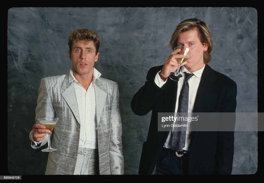 ebef64b2279 Kevin Bacon and Roger Daltry Drinking   News Photo
